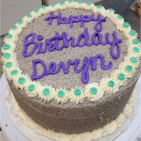 1409 Happy Birthday Devyn Round Cake