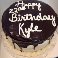 1408 Happy 22nd Birthday Kyle Round Cake