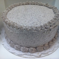 1301 Chocolate Cake Cookies and Cream Butter Cream Icing Round Cake