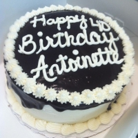 1312 Happy 40th Birthday Antoinette Chocolate Ganache Round Cake