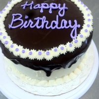 1313 Happy Birthday Chocolate Ganache Round Cake