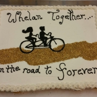 1549 Whelan Together Engagement Cake