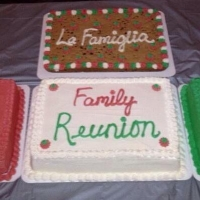 1423 Italian Family Reunion Sheet Cakes