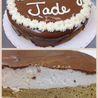 1410 Happy Birthday Jade Round Chocolate Ganache Cake