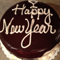 1401 Happy New Year Ganache Round Cake
