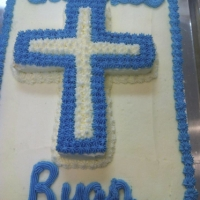 1302 God Bless Ryan Communion Confirmation Sheet Cake