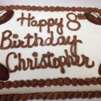 1417 Happy 8th Birthday Christopher Half Sheet Cake