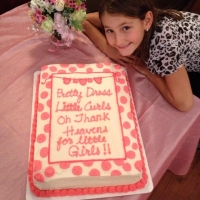 1424 Thank Heaven For Little Girls Half Sheet Cake