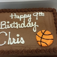 1511 Happy 9th Birthday Chris Sheet Cake
