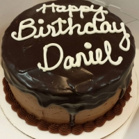 1512 Happy Birthday Daniel Round Cake