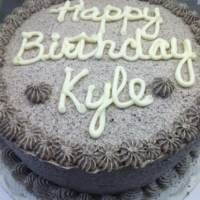 1307 Happy Birthday Kyle Cookies and Cream Cake