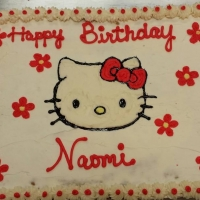15137 Happy Birthday Naomi Hello Kitty Sheet Cake