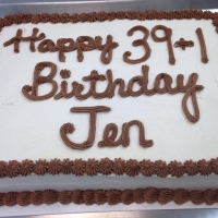 1502 Happy 39 + 1 Birthday Jen Sheet Cake