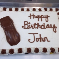 1505 Happy Birthday John Sheet Cake Chocolate Car