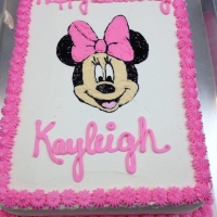 1506 Happy Birthday Keyleigh Minnie Mouse Cake