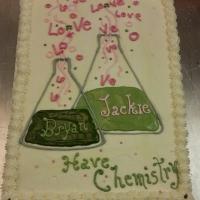 1538 Bryan & Jackie Have Chemistry Sheet Cake