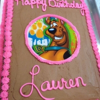 1405 Happy Birthday Lauren Sheet Cake