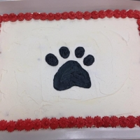 1508 Pawprint Sheet Cake