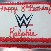 1503 Happy 8th Birthday Ralphie Sheet Cake