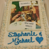 1509 Stephanie and Michael Wedding Cake