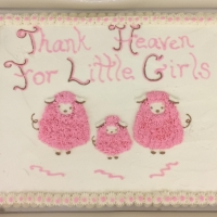 1551 Thank Heaven For Little Girls Sheet Cake