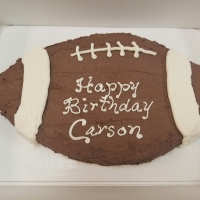 16076 Happy Birthday Carson Football Cake