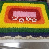 16086 MAYA Rainbow Sheet Cake View 1
