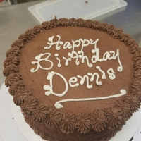 16079 Happy Birthday Dennis Round Chocolate Icing Cake