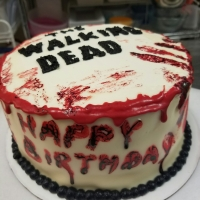 16088 The Walking Dead Happy Birthday Cake View 1