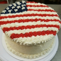 16021 American Flag Round Cake