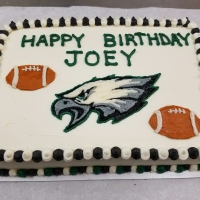 16082 Happy Birthday Joey Eagle and Football Sheet Cake