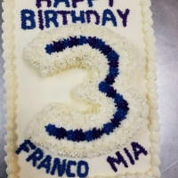16068 Happy 3rd Birthday Franco Mia Sheet Cake