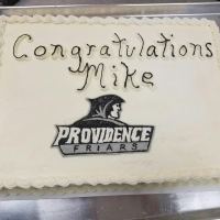 16044 Congratulations Mike Providence Friars Sheet Cake