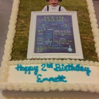 16048 Happy 2nd Birthday Emmett Sheet Cake