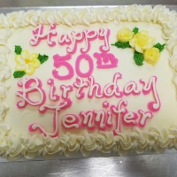 16049 Happy 50th Birthday Jennifer Sheet Cake