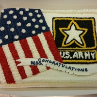 16057 US Army Sheet Cake