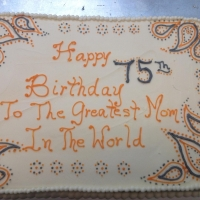 16050 Happy 75th Birthday Mom Sheet Cake