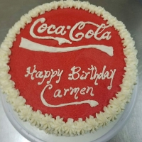 16095 Happy Birthday Carmen Coca Cola Round Cake
