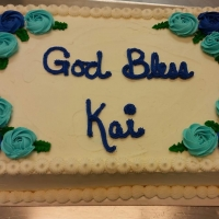 16003 God Bless Kai Sheet Cake