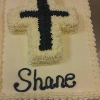 16023 God Bless Shane Sheet Cake