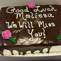 16012 Good Luck Melissa Sheet Cake