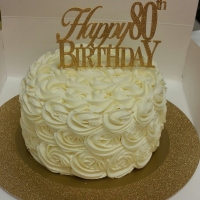 16027 Happy 80th Birthday Round Cake
