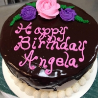 16005 Happy Birthday Angela Round Cake