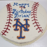 16014 Happy Birthday Brian New York Mets Baseball Cake