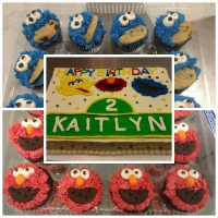 16015 Happy Birthday Kaitlyn Sesame Street Sheet Cake