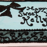 16105 Happy Sweet 16 Kelly Sheet Cake
