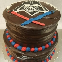 16091 Darth Vader Star Wars 2 Layer Round Cake