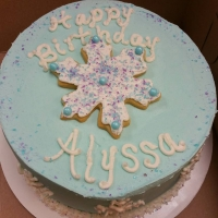 16004 Happy Birthday Alyssa Round Cake