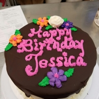 16081 Happy Birthday Jessica Round Cake