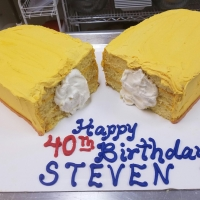 16069 Happy 40th Birthday Steven Twinkie Cake